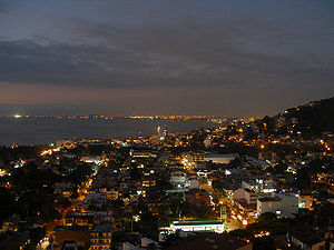 Puerto Vallarta at night.