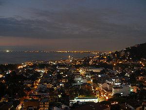 Puerto Vallarta at night.